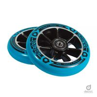 District W-Series 110mmx24mm Cast Alloy Core Wheel Black/Blue PU - Twin Pack